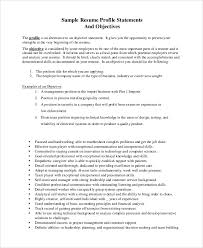Resume Objective Statement Best General Resume Objective Statements Canreklonecco