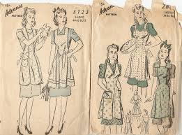 Vintage Apron Patterns New Sew Very Vintage Patterns Vintage Apron Patterns