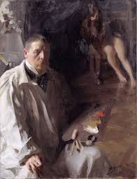 anders zorn self portrait with model 1896