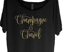 chanel shirt. custom order for linda - champagne \u0026 chanel shirt i