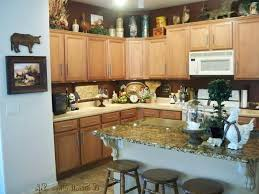 Decorating Kitchen Countertops Kitchen Kitchen Counter Decor Intended For Trendy Rustic Granite