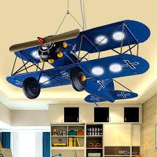 children s iron airplane room led pendant lights bedroom creative personality cartoon pendant light retro hanging lamps modern ceiling lamps pendant light