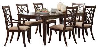 homelegance keegan 7piece dining room set brown cherry 7 piece dining room set n67