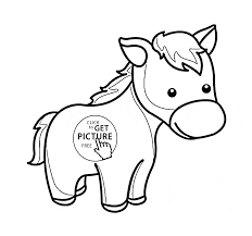 Small Picture Cute Little Horse Pony coloring page for kids for girls coloring