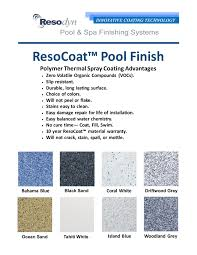 Polymeric Pools Color Choices
