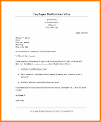 5 Employment And Salary Verification Letter Sample Intern Resume