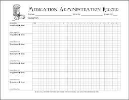 Medication Planner Chart Free Printable Medication Tracker Administration Chart