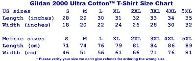 Gildan Ultra Cotton Tank Size Chart Gildan Ultra Cotton Size Chart Cm Best Picture Of Chart