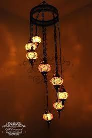 image 0 turkish mosaic chandelier blue 8 ball water drop style turkish mosaic chandelier india 7 ball