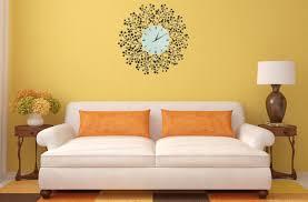 spring blooms decorative metal wall clock