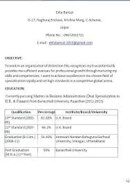 Mba Resume Template career objective for mba resume – Resume Sample