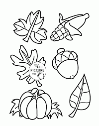 Small Picture Fall Things coloring pages for kids autumn printables free
