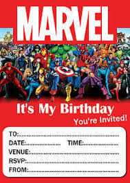 superheroes birthday party invitations marvel birthday party invitations 10 20 or 30 with envelopes ebay