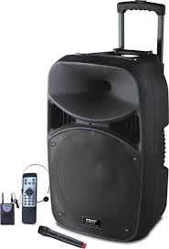 powerful 150w portable bluetooth trolley speaker system for outdoor party