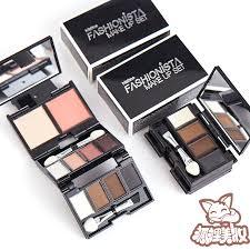 thailand mistine mini folding 10 color makeup box 腮 red eyebrow powder repair capacity eye shadow tray