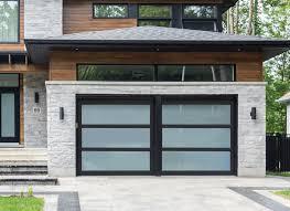 modern glass garage doors panorama