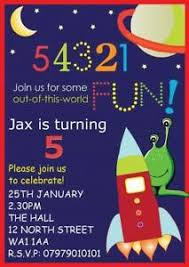 Space Party Invitation Details About Personalised Childrens Rockets Space Party Invite Birthday Party Invitations X8