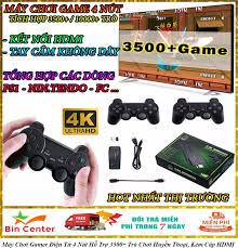 Máy Chơi Gamer Điện Tử 4 Nút Hỗ Trợ 3500+ Trò Chơi Huyền Thoại, Kèm