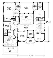 House Plan at FamilyHomePlans comMediterranean House Plan Level Two