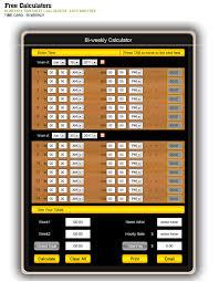 Bi Weekly Hour Calculator Magdalene Project Org