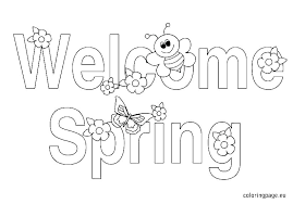 Free Color Pages Spring Printable Coloring Pages Spring Spring