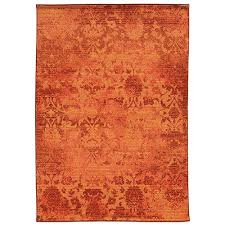 pantone universe expressions orange and pink rectangular 5 ft 3 in x 7 ft 6 in rug