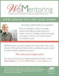 overview womentoring jvs one page information about mentors