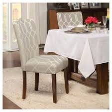inspire q catherine moroccan pattern fabric parsons dining chair set of 2 home project moroccan pattern dining chair set and dining