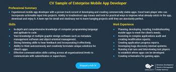 Mobile Developer Resume Smart Tips To Choose The Best Enterprise Mobile Developer Mobilunity