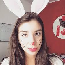 cute bunny makeup idea