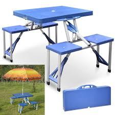 small pastic folding foldable camping and picnic table chairs aluminium portable set umbrella small and
