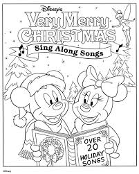 Small Picture Disney Coloring Page Mickey Mouse Christmas Coloring Pages