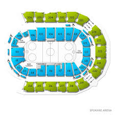 Spokane Arena Hockey Seating Chart Kelowna Rockets At Spokane Chiefs Tickets 2 1 2020 7 05 Pm