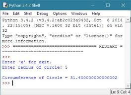 to calculate cirference of circle