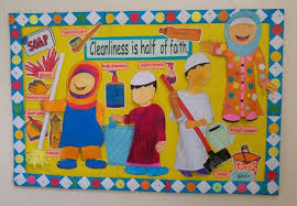 Cleanliness Chart For School Cleanliness Theme Board School Bulletin Boards Classroom