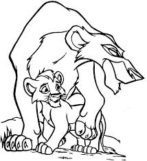 Scar And His Son The Lion King Coloring Page Download Print