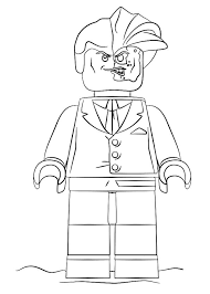 Kids N Funcom Coloring Page Lego Batman Movie Two Face