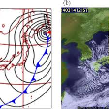 A Surface Weather Chart Around Eastern Asia On 09 Japan