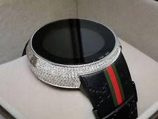 gucci stainless steel case digital wristwatches brand new mens i gucci digital white diamond watch 4 ct ya114207