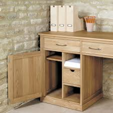 baumhaus hidden home office 2. baumhaus mobel oak large hidden office twin pedestal desk home 2