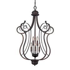 millennium lighting 1056 rbz 6 light cau large foyer pendant