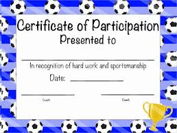 Certificate Of Participation Templates Certificate Of Participation Template Wilkesworks