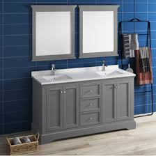 Traditional double sink bathroom vanities Cherry Windsor 60 Or 72 Wide Traditional Double Sink Bathroom Vanity Set W Mirrors By Fresca Kitchensourcecom Kitchensourcecom Windsor 60 Or 72 Wide Traditional Double Sink Bathroom Vanity