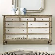 beaumont lane 9 drawer mirrored dresser