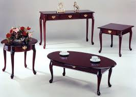 queen anne coffee table oval round tables square inch foot cherry wood and end painted dresser