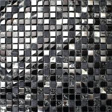 le crystal mosaic diamond silver plating glass tile natural marble bathroom mirror es wall black gemstone black 2 x glass glossy tile sparkle mosaic