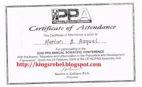 Tidbits And Bytes Example Of Certificate Of Attendance