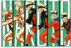 Naruto Evolution Wandbild 120x80cm XXL Bilder und Kunstdrucke auf Leinwand  : Amazon.de: Küche, Haushalt & Wohnen