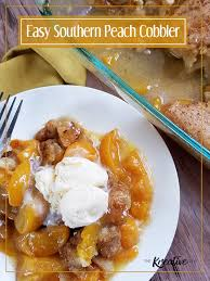 southern peach cobbler.  Southern Easy Southern Peach Cobbler  The Kreative Life Inside