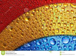 Blue Gold And Red Colors Abstract Water Drops Stock Image Image Of